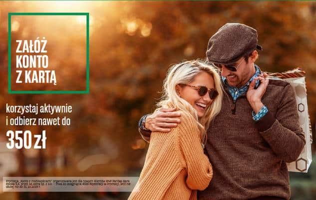 BNP Paribas daje po 350 zł za otwarcie konta!